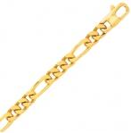 Bracelet en or jaune maille Alternée 5 mm - 14.5g Margaux