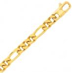 Bracelet en or jaune maille Alternée 6 mm - 24.15g Anaève