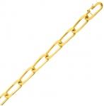 Bracelet en or maille Alternée 6mm - 14.1g Zoélie