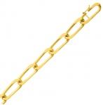 Bracelet en or maille Alternée 7mm - 18g Yustina