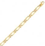 Bracelet en or maille Alternée ultra-plate 5mm - 8.5g Aliya