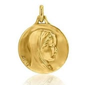 M�daille vierge Augis Or Jaune Ang�lique