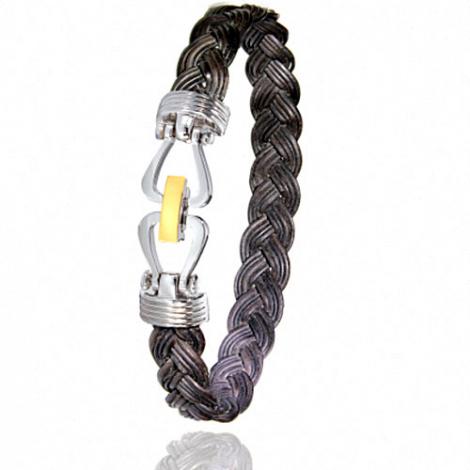 Albanu - Bracelet en Poils d'éléphant et or 11g -  Adrienne - 731TELTTORjaune