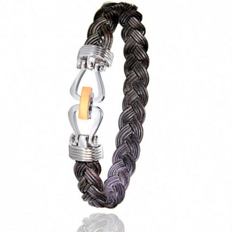 Albanu - Bracelet en Poils d'éléphant et or 11g -  Brianna - 731TELTTORrose