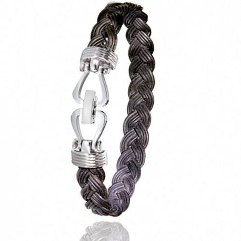 Albanu - Bracelet en Poils d'éléphant et or 11g -  Clémence - 731TELTTORblanc