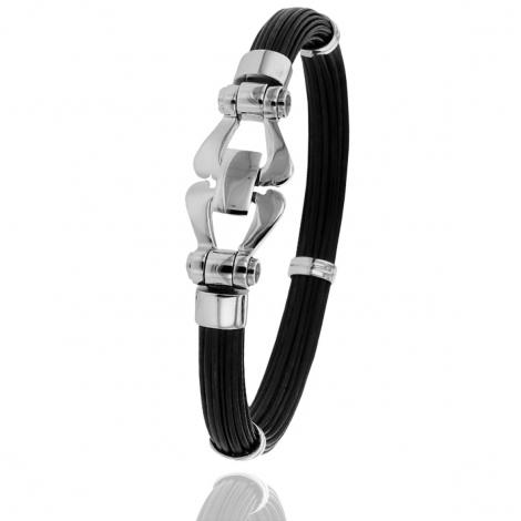 Albanu - Bracelet en Poils d'éléphant et or 20g -  Judith - F503PELTTORblanc