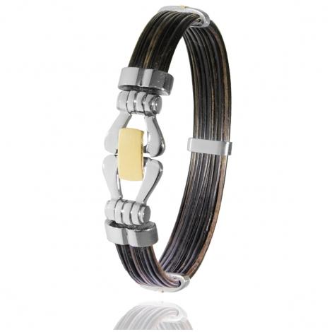 Albanu - Bracelet en Poils d'éléphant or acier 0.35g -  Aiata - F501PELORjaune