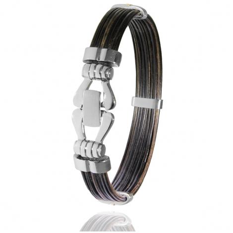 Albanu - Bracelet en Poils d'éléphant or acier 0.35g -  Hideki - F501PELORblanc