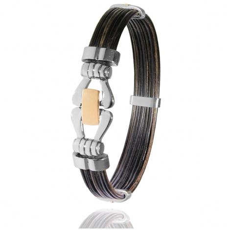 Albanu - Bracelet en Poils d'éléphant or acier 0.35g -  Kaoru - F501PELORrose