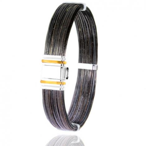 Albanu - Bracelet en Poils d'éléphant or acier 0.5g -  Dorothée - 698ELORjaune