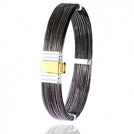 Albanu - Bracelet en Poils d'éléphant or acier 0.5g -  Espoir - 699NELORjaune