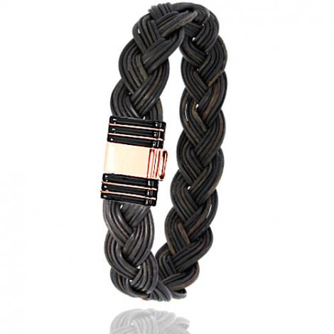 Albanu - Bracelet en Poils d'éléphant or acier 0.7g -  Clarissa - 701NTELORrose