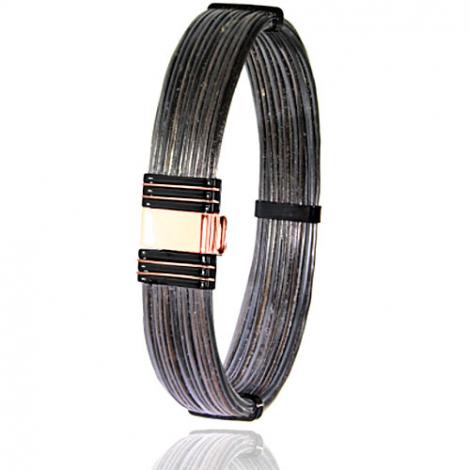 Albanu - Bracelet en Poils d'éléphant or acier 0.7g -  Sandrine - 701NELORrose