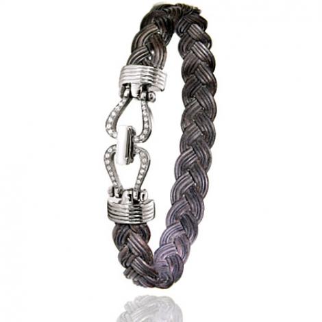 Albanu - Bracelet en Poils d'éléphant or et diamant  11g -  Poerava - 730DTELORblanc
