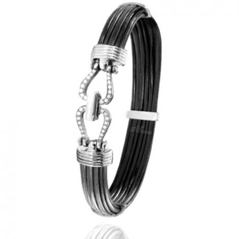 Albanu - Bracelet en Poils d'éléphant or et diamant  13.5g -  Geneva - 730DELORblanc