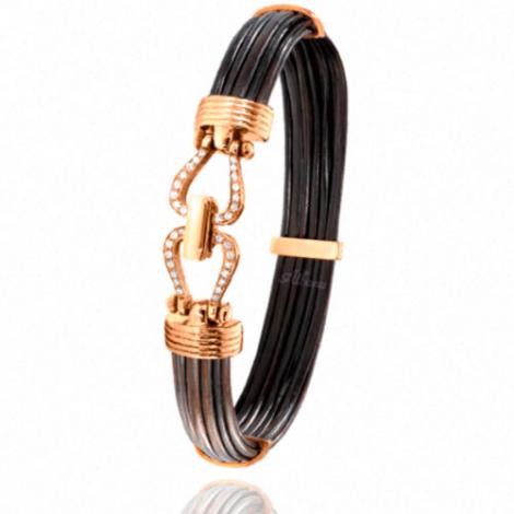 Albanu - Bracelet en Poils d'éléphant or et diamant  13.5g -  Mitsuko - 730DELORrose