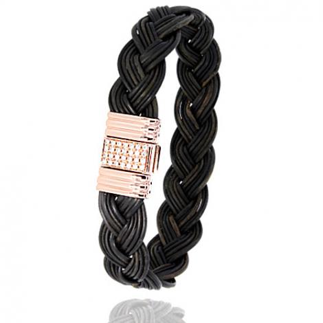 Albanu - Bracelet en Poils d'éléphant or et diamant  14.4g -  Barbara - 696DTELORrose