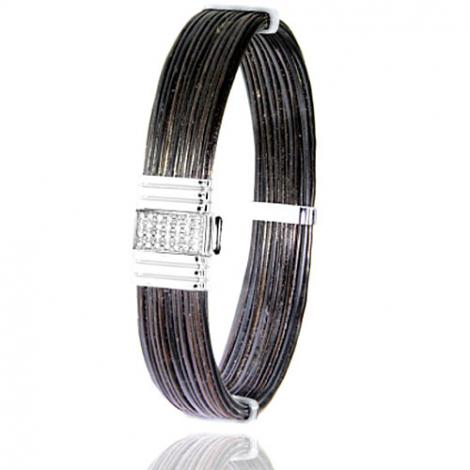 Albanu - Bracelet en Poils d'éléphant or et diamant  14.4g -  Itia - 696DELORblanc