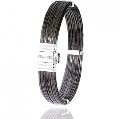 Albanu - Bracelet en Poils d'éléphant or et diamant  14.4g -  Kimberly - 696-1LELORblanc