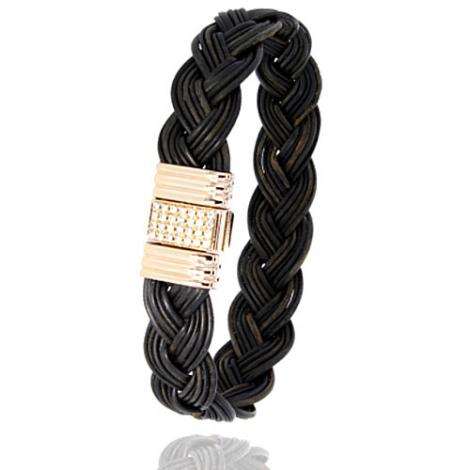 Albanu - Bracelet en Poils d'éléphant or et diamant  14.4g -  Teorina - 696DTELORjaune