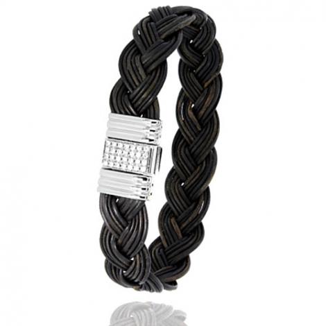 Albanu - Bracelet en Poils d'éléphant or et diamant  14.4g -  Vanira - 696DTELORblanc