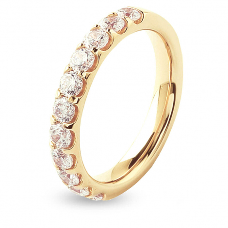 Alliance 11 Diamants Prestige serti griffes 1 ct  en Or Jaune - Constance