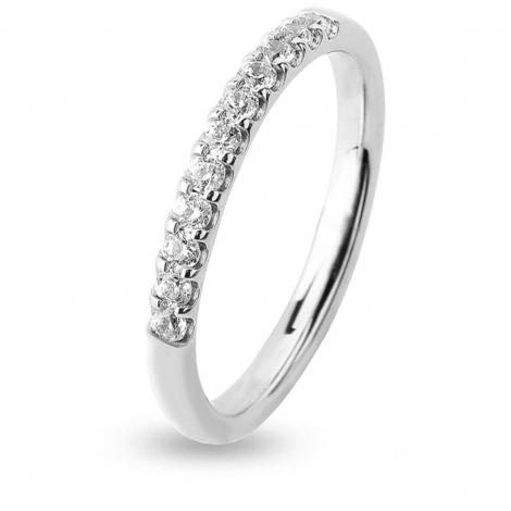 Alliance 11 Diamants serti griffes 0.17 ct  en Or Blanc - Mara