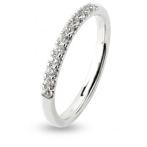 Alliance 11 Diamants serti griffes 0.24 ct  en Or Blanc - Infinie