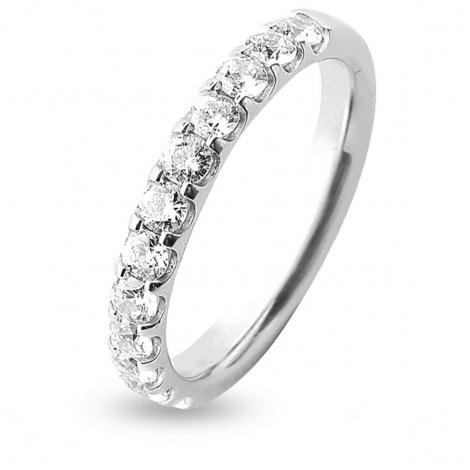 Alliance 12 Diamants Prestige serti griffes 0.75 ct Kimberley en Platine 950 - 7BE42512D-PT1