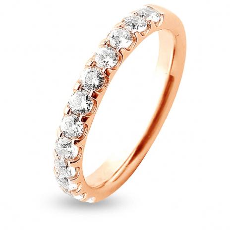 Alliance 12 Diamants Prestige serti griffes 0.75 ct Lola en Or Rose - 7BE42512WD