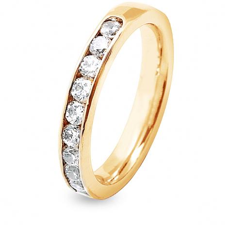 Alliance 12  Diamants Prestige serti rail 0.75 ct  en Or Blanc