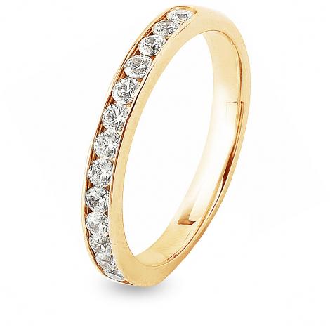 Alliance 15 diamants Prestige serti rail 0.5 ct  en Or Blanc