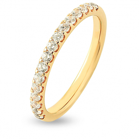 Alliance 16 Diamants Prestige serti griffes 0.38 ct  en Or Jaune - Tamara