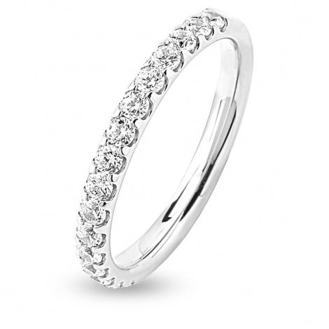 Alliance 16 Diamants Prestige serti griffes 0.5 ct  en Platine 950 - Milles éclats