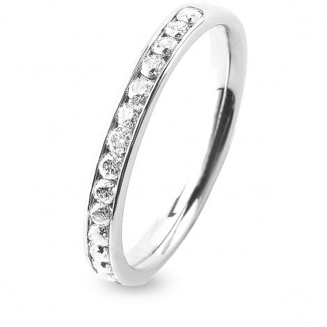 Alliance 16 diamants Prestige serti rail 0.38 ct  en Platine 950