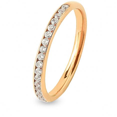 Alliance 20 diamants Prestige serti rail 0.25 ct  en Or Blanc