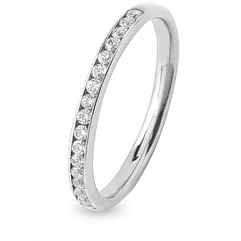 Alliance 20 diamants Prestige serti rail  0.25 ct  en Platine 950