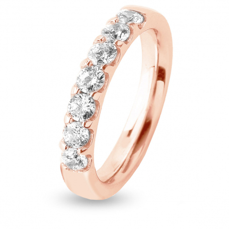 Alliance 7 Diamants serti griffes 1.96 ct Léanne en Or Rose - 7BE441007WD