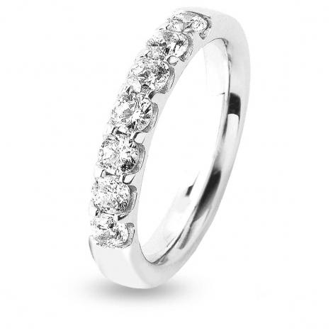 Alliance 7 Diamants serti griffes 1 ct Rosalina en Or Blanc - 7BE43307WD