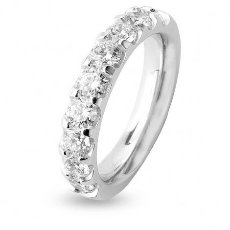 Alliance 9 Diamants Prestige serti griffes 1.5 ct Inna en Or Blanc - 7BE43609WD