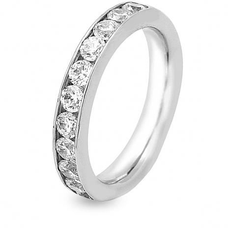 Alliance 9 Diamants Prestige serti rail 1 ct  en Platine 950