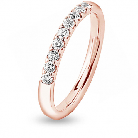 Alliance 9 Diamants serti griffes 0.31 ct Judith en Or Rose - 7BE421009WD