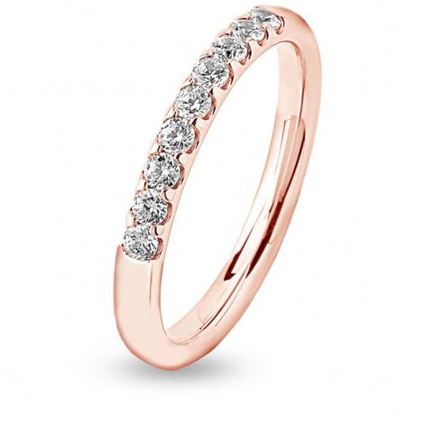 Alliance 9 Diamants serti griffes 0.41 ct Marélie en Or Rose - 7BE423009WD