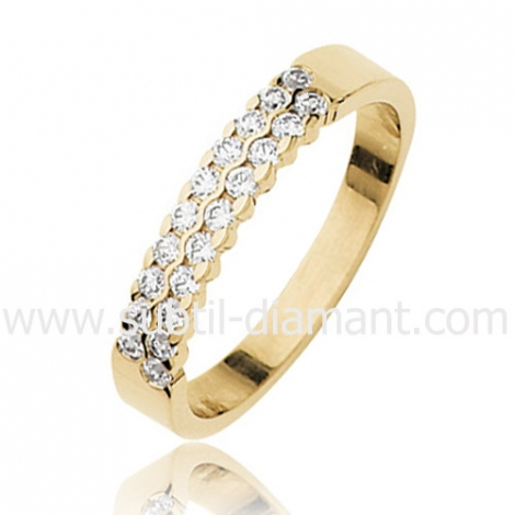 Alliance Alessandra en Or Jaune et diamants 3.8 mm - 95601280