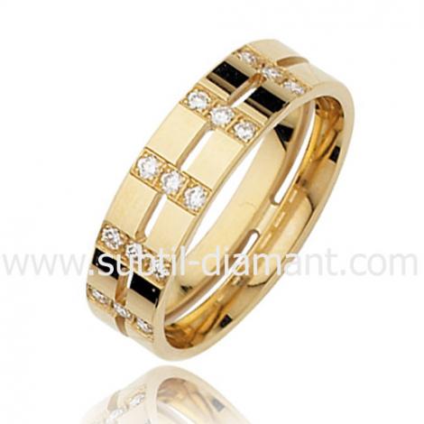 Alliance Aliya en Or Jaune et diamants 5.5 mm - 3632150