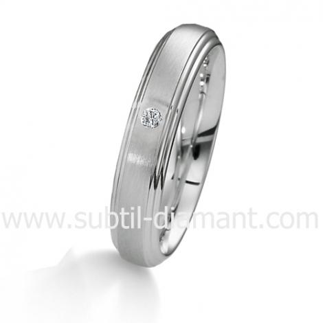 Alliance Anaève en Or Blanc et diamants 4.5 mm - 04029