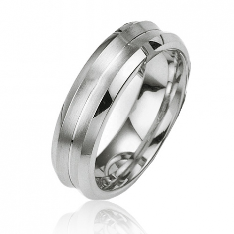Alliance argent  large de 6 mm Giulia - 08024