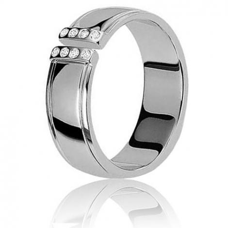 Alliance Augusta  sertie de diamants 0.08ct en or blanc Or Blanc - 0.08 ct - Loane