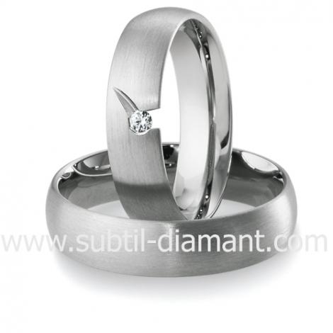 Alliance Barbara en Or Blanc et diamants 5.5 mm - 04121
