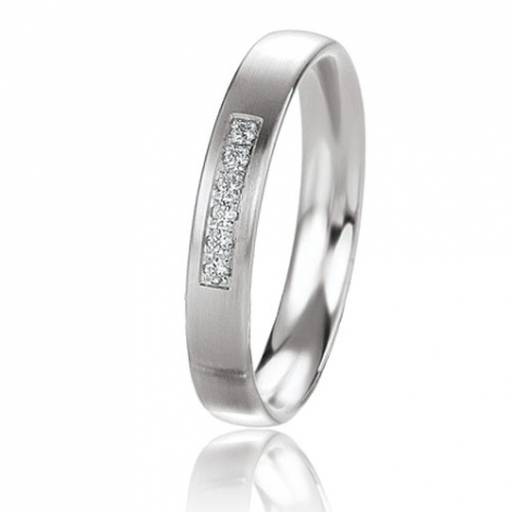 Alliance Basic Lignt 3.5 mm Or Blanc diamant Rosalie - 05629
